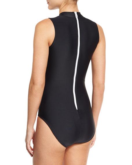 UPF 50 Sleeveless One-Piece Swimsuit