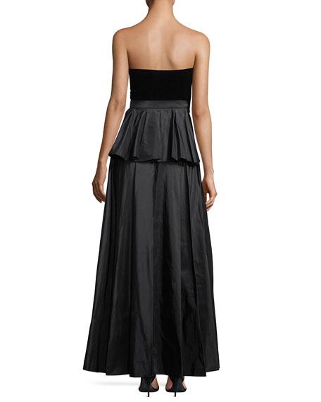 Correra Strapless Evening Gown