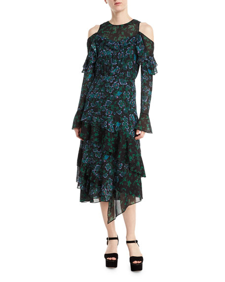 Tanya Taylor Designs Floral Vines Althea Dress