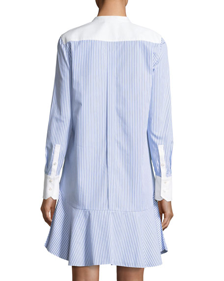 Cora Ombre Striped Cotton Voile Shirtdress