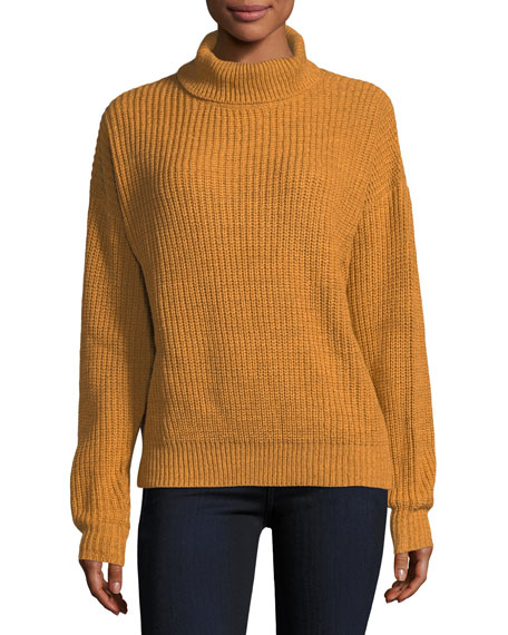 Lovers And Friends Alexa Cowl-Neck Ribbed Sweater