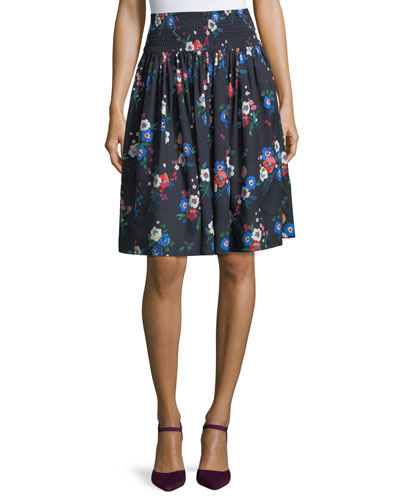 Blaire Pansy Bouquet Floral Full Skirt