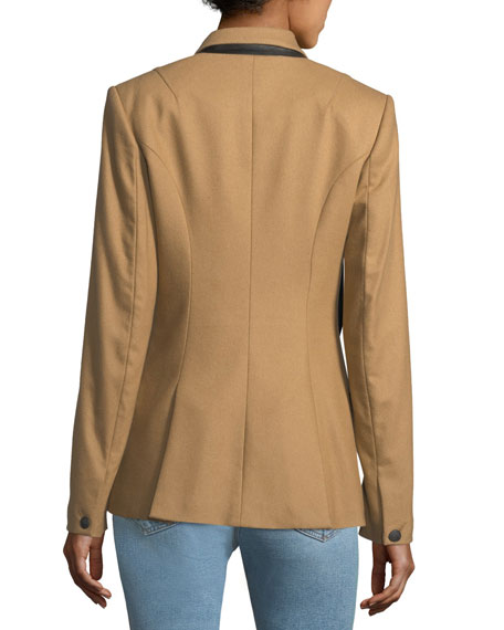 Duke Double-Breasted Wool-Blend Blazer