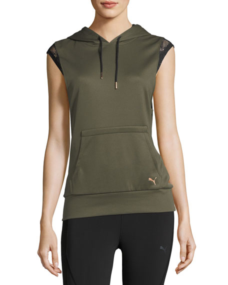 Puma Explosive Sleeveless Active Training Hoodie Sweatshirt