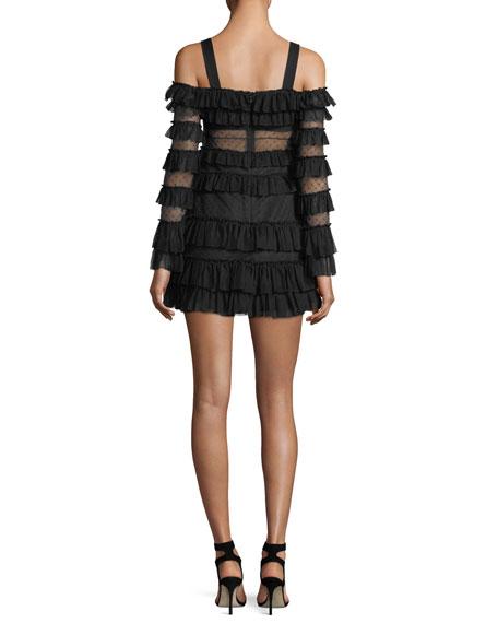 Brandi Off-the-Shoulder Tiered Ruffled Mini Dress