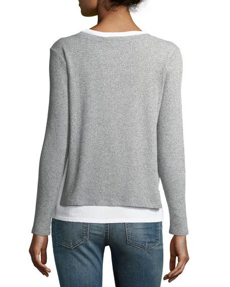 Ellie Rib-Knit Layered Sweater
