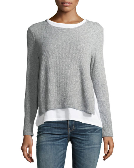 Generation Love Ellie Rib-Knit Layered Sweater