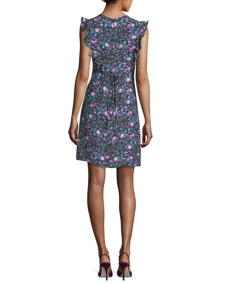 Ruby Floral-Print V-Neck Sleeveless Day Dress