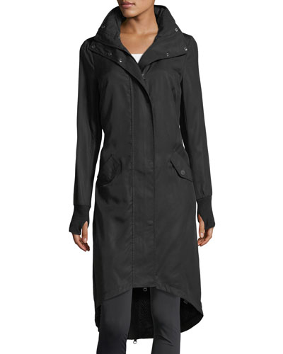 Long Hooded Anorak Jacket