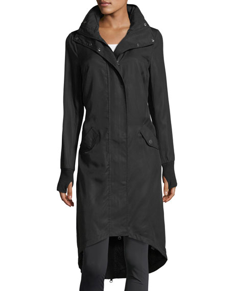 Blanc Noir Long Hooded Anorak Jacket
