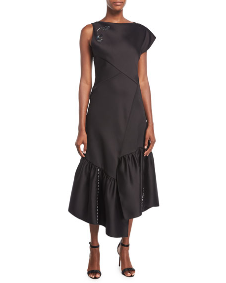 3.1 Phillip Lim One-Shoulder Asymmetric Midi Cocktail Dress