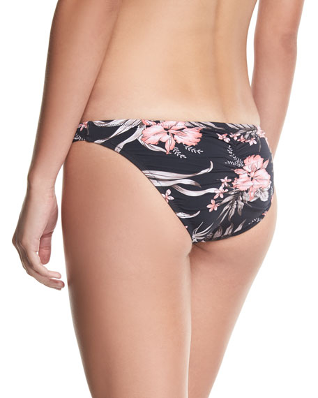 Hanalei Floral-Print Swim Bottom