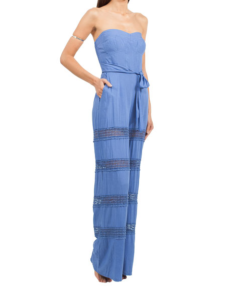 6 Shore Road Appleton Strapless Tiered Jumpsuit