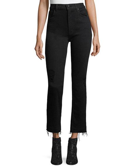 Derek Lam 10 Crosby Leah High-Waist Straight-Leg Jeans