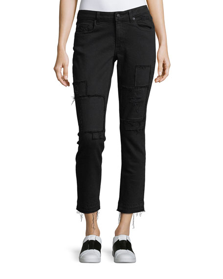 Derek Lam 10 Crosby Mila Mid-Rise Slim Girlfriend