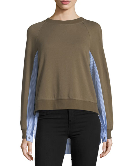 Derek Lam 10 Crosby Long-Sleeve 2-in-1 Sweater w/