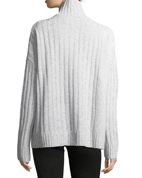 Long-Sleeve Turtleneck Knit Sweater