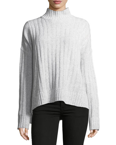 Long-Sleeve Turtleneck Knit Sweater