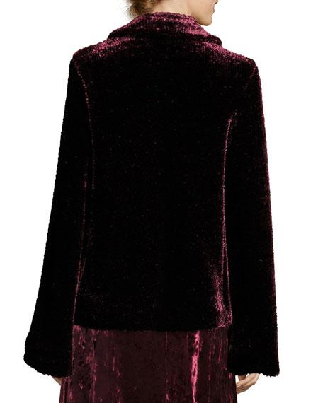 Sophia Hook-Front Velvet Jacket