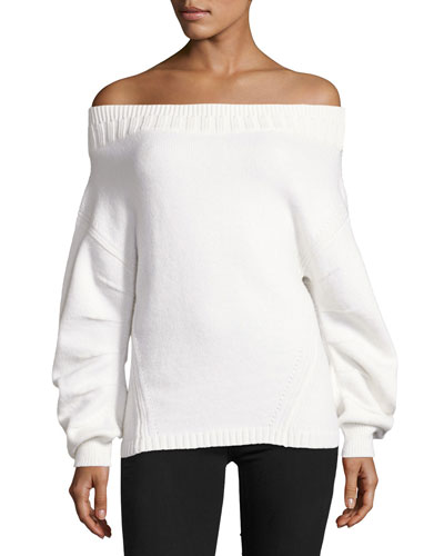 Off-the-Shoulder Wool-Blend Sweater