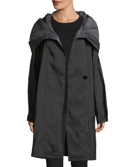 Short Donnatella Reversible Two-Button Rain Jacket