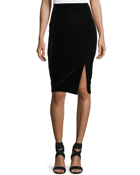 Matty M Velvet Pull-On Pencil Skirt
