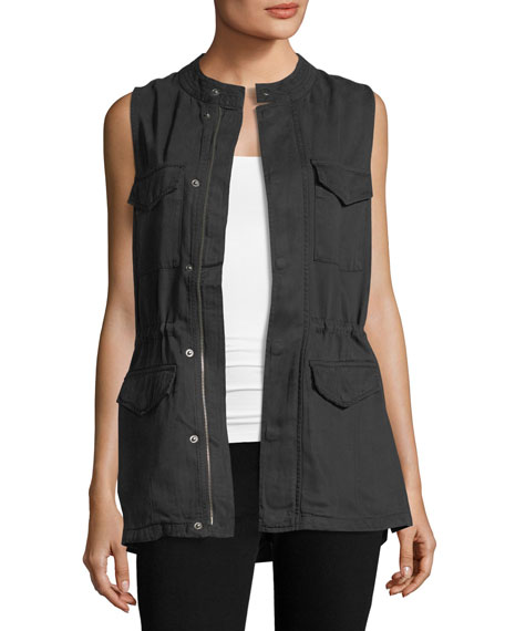 Sleeveless Multi-Pocket Utility Vest