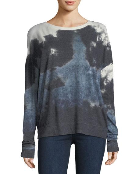 Majestic Paris for Neiman Marcus Tie-Dye Crewneck Sweatshirt