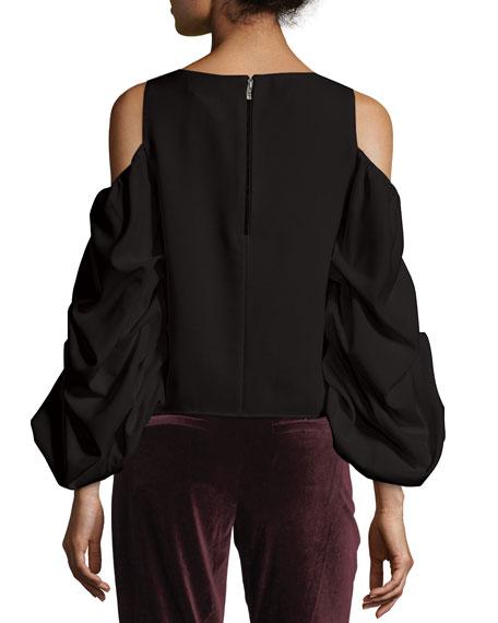 Cordelia Cold-Shoulder Ruffled-Sleeve Top