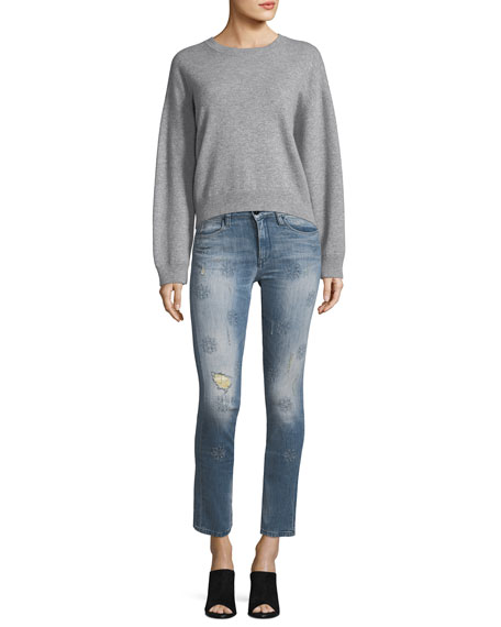 Lily Slim Straight-Leg Cropped Jeans