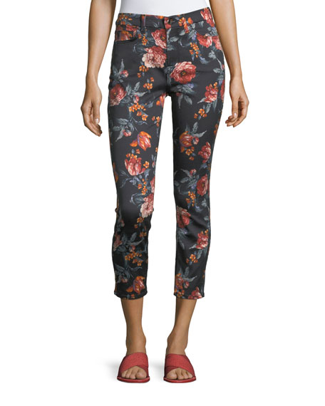 Jen7 by 7 for All Mankind Floral-Print Skinny