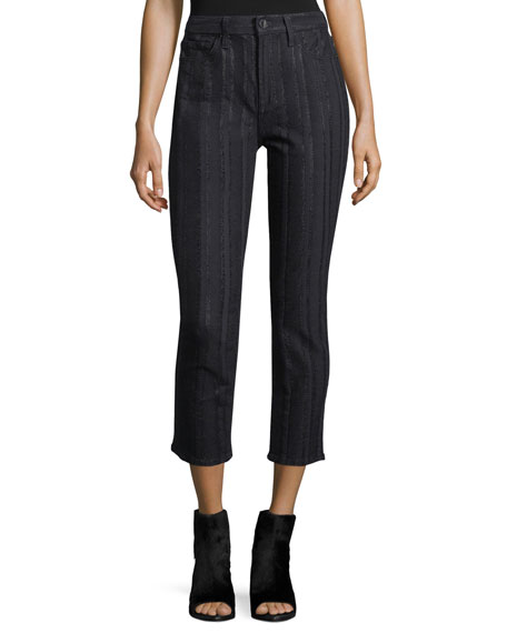 Jen7 by 7 for All Mankind Metallic Striped