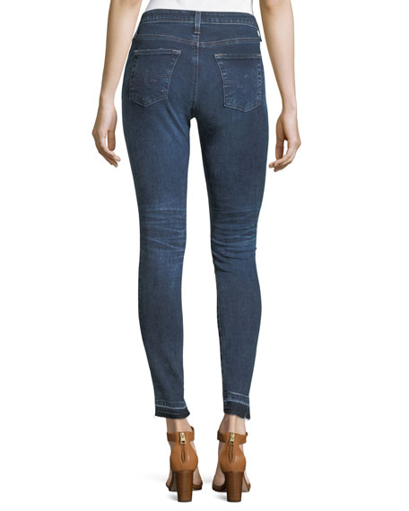 Released Hem Super-Skinny Ankle Jeans