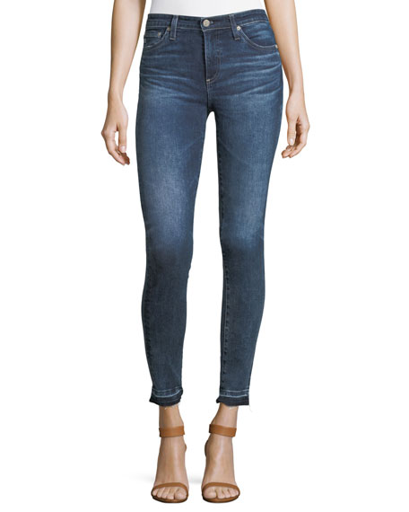 AG Released Hem Super-Skinny Ankle Jeans