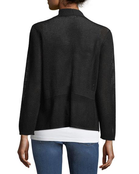 Linen-Blend Luxe-Stitch Cardigan