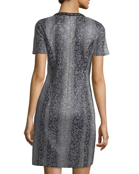 Sofia V-Neck Hook-Trim Dress