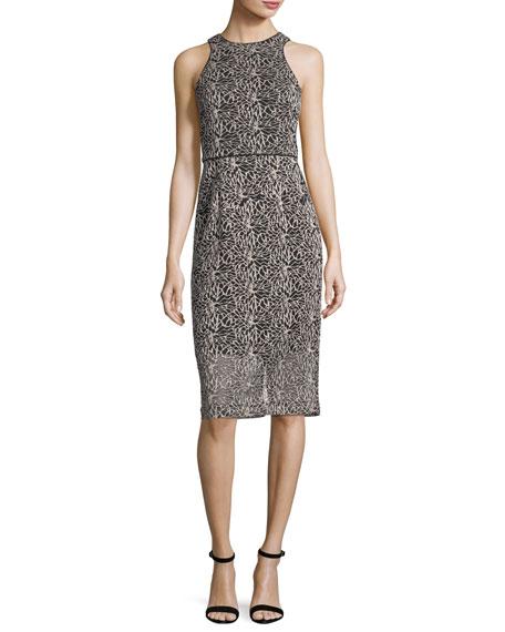 Sleeveless Embellished-Mesh Dress