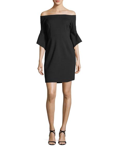 Ponte Off-the-Shoulder Dress