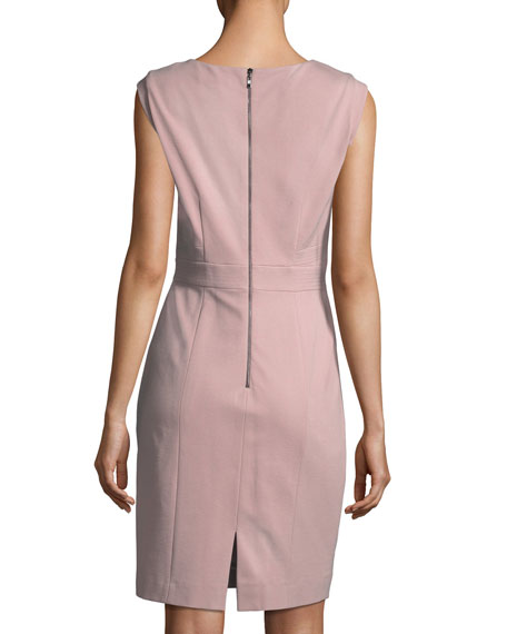 Ponte V-Neck Sheath Dress