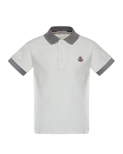 Maglia 1 Two-Tone Short-Sleeve Polo, Size 8-14