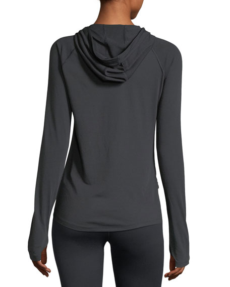 Threadborne Running Mesh Hooded Top