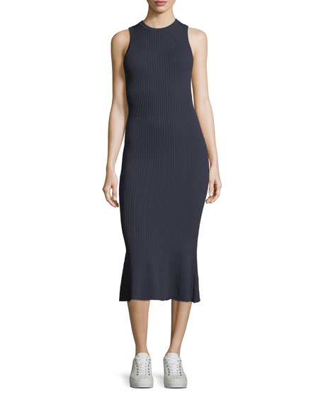 Jason Wu GREY Sleeveless Ribbed-Knit Dress