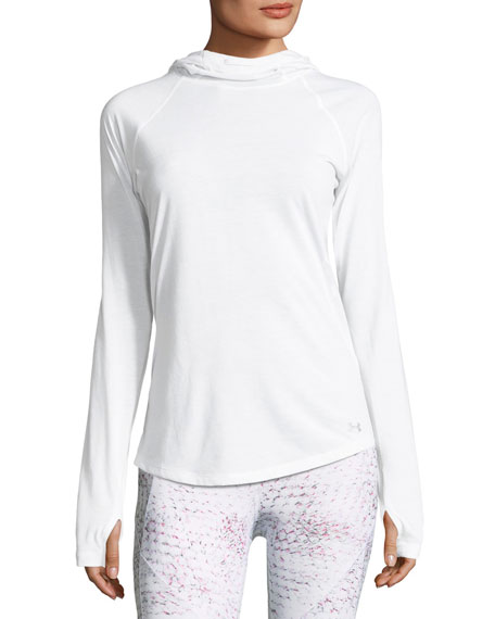 Under Armour Threadborne Running Mesh Hooded Top