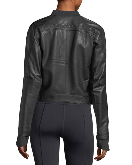 Misty Zip-Front Leather Jacket