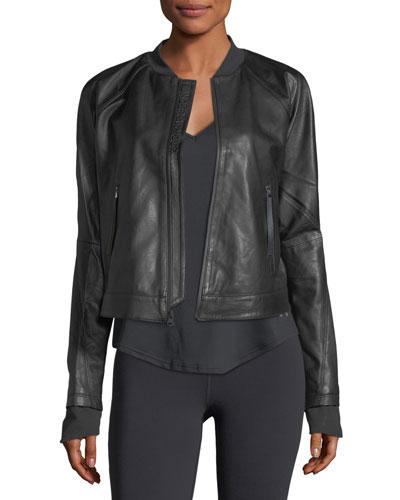 Misty Zip-Front Leather Jacket