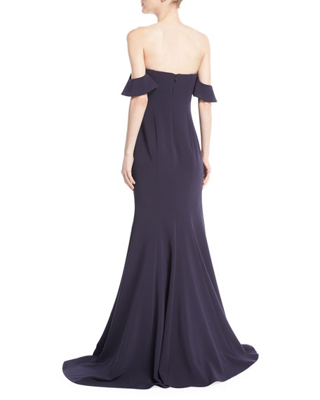 Sunset Off-the-Shoulder Sweetheart Evening Gown