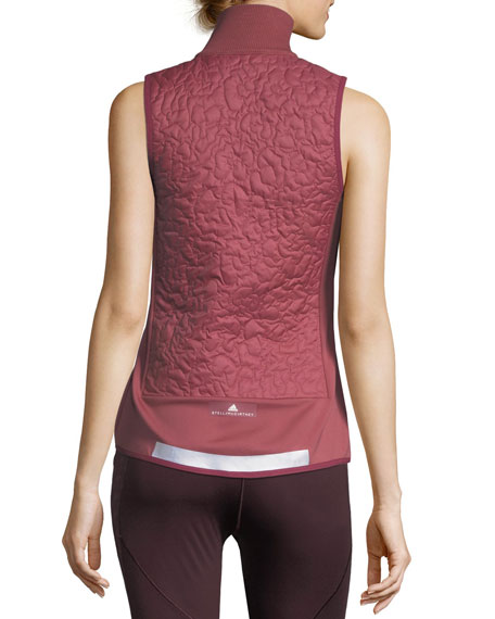 adidas by Stella McCartney Quilted Zip-Front Running Vest : quilted zip front vest - Adamdwight.com