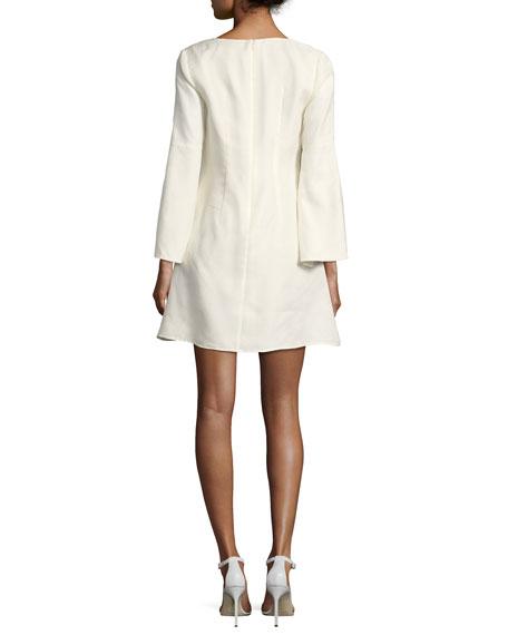 Sambrado Camisa Bell-Sleeve Embellished Cocktail Dress