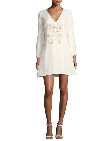 Mestiza New York Sambrado Camisa Bell-Sleeve Embellished Cocktail