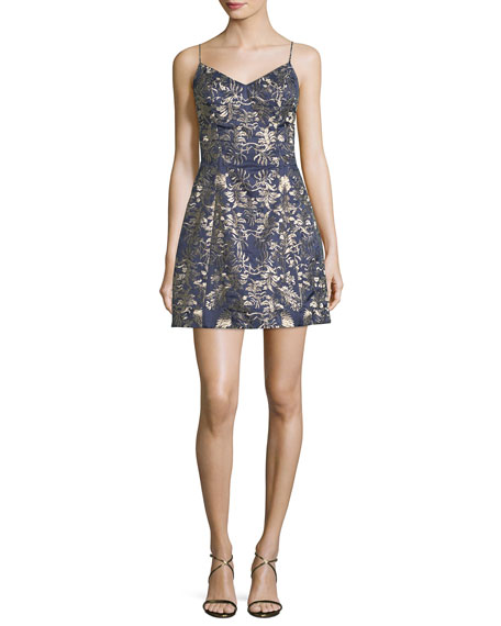 Mestiza New York Sleeveless Embroidered Bell Cocktail Dress